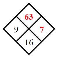 Added to the diamond, 63 in top space.