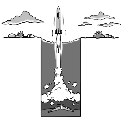 rocket launching from ground