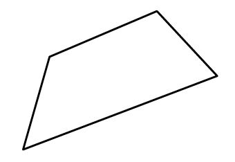 A 4 sided polygon, with no sides the same, and no right angles.