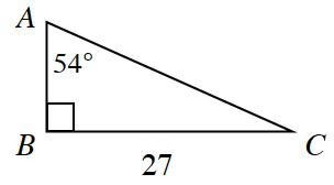 54°Triangle A_T B_B C_R