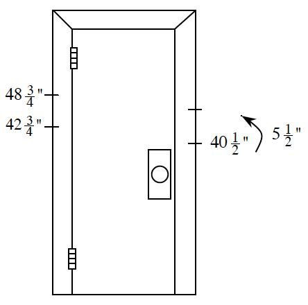 Door with measurements