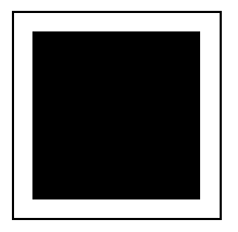 A frame figure with the inside square, that contains 8 rows of 8 tiles, shaded.