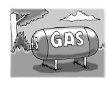 outdoor gas tank