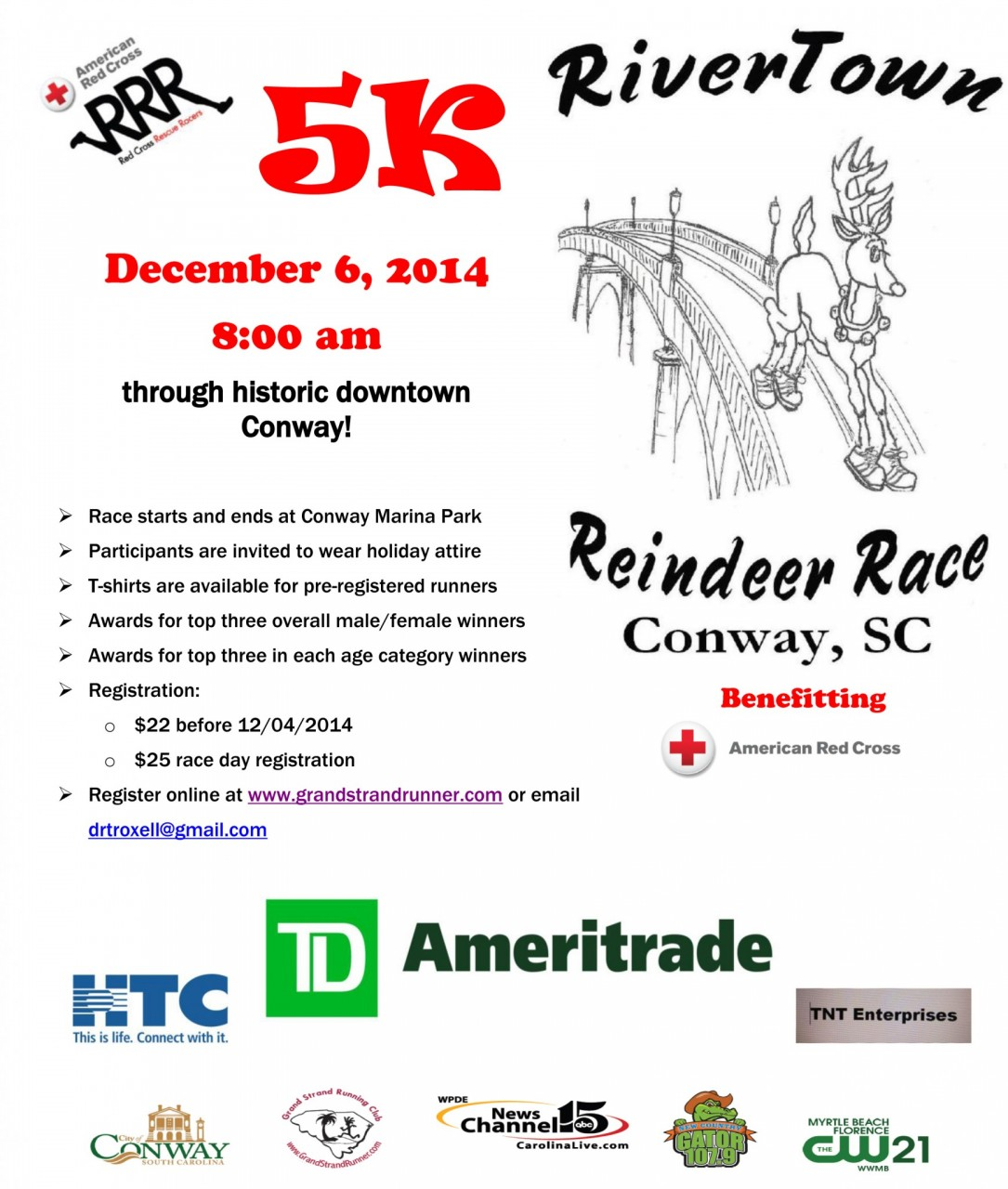 reindeer race flyer 2014 conway chamber of commerce