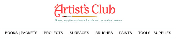 ArtistsClub.com - Books, supplies and more for tole and decorative painters.