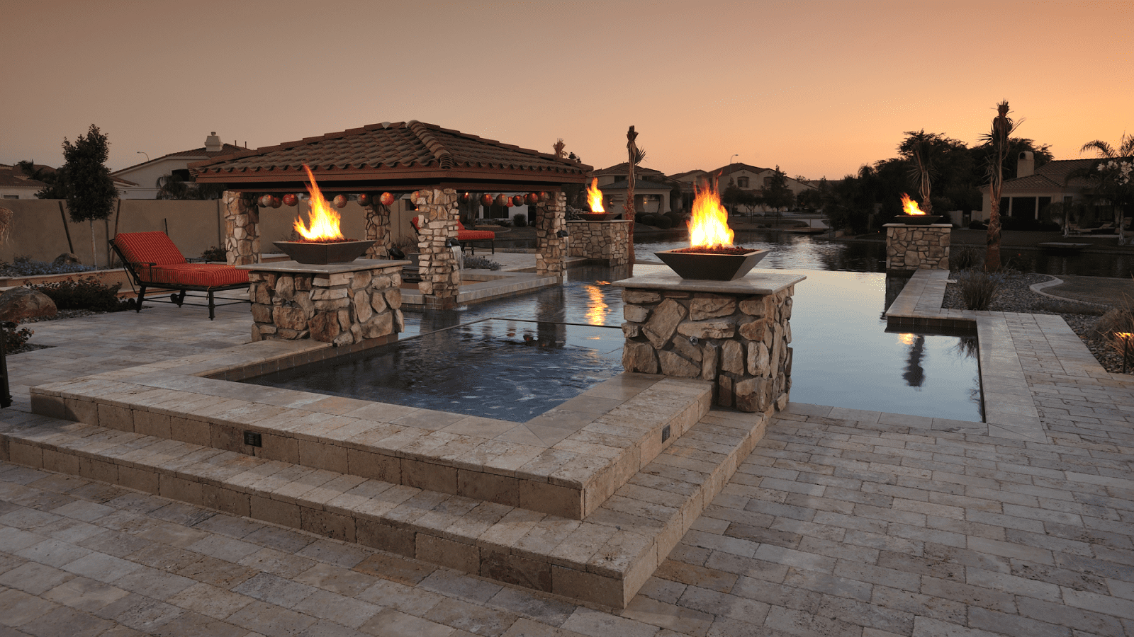 Amazing custom pool deck