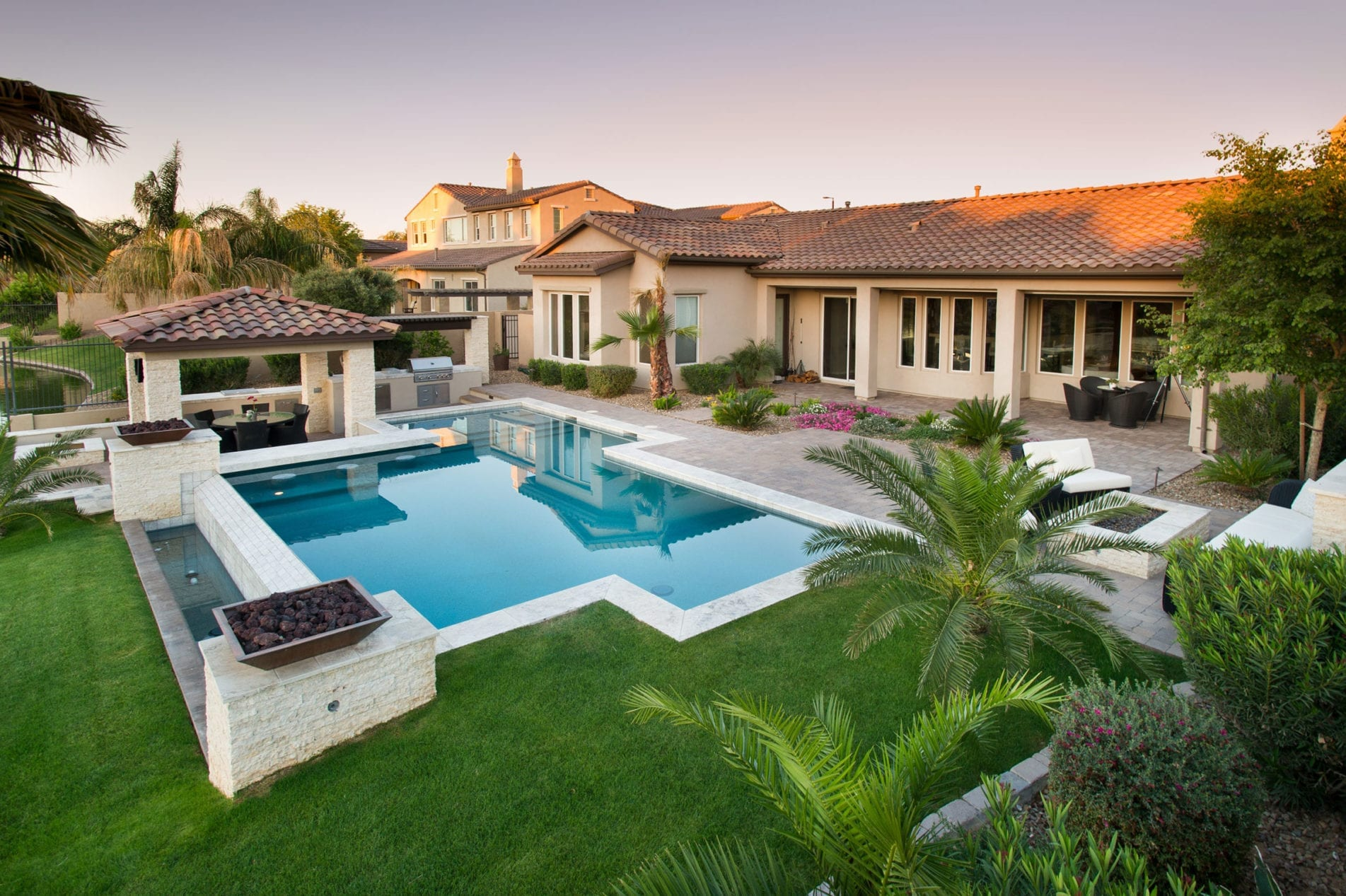 custom phoenix back yard with swimming pool
