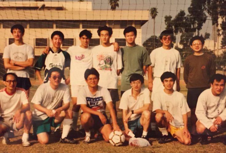 Members of the Caltech C club in the 1980s