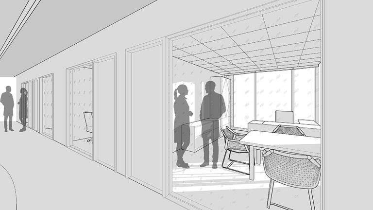 Faculty office concept sketch