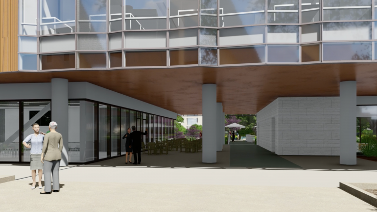 Preliminary concept for the breezeway
