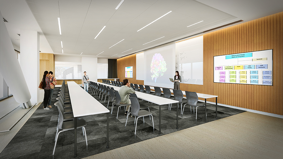 Large conference room concept sketch