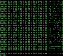 Photograph of hex dump of FreeBSD's boot0 MBR