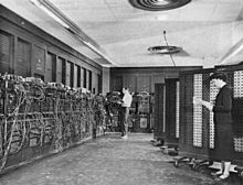 Old photograph of switches and cables.