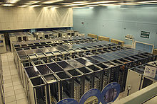Photo of the CERN data center.
