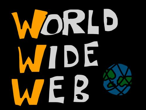 "graphic with the words ""World Wide Web"""