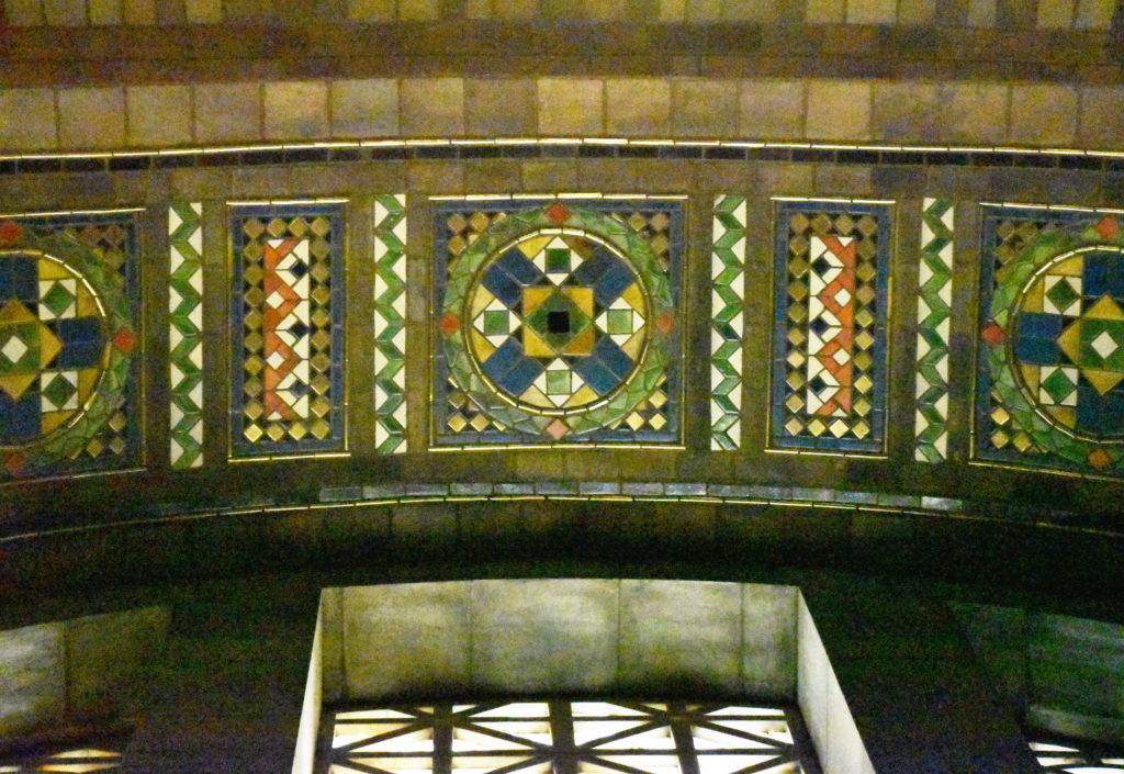 Foyer vault mosaic detail