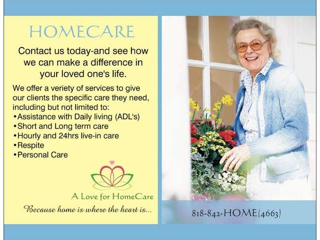 A LOVE 4 HOMECARE, INC Assisted Living Home Image in BURBANK, CA
