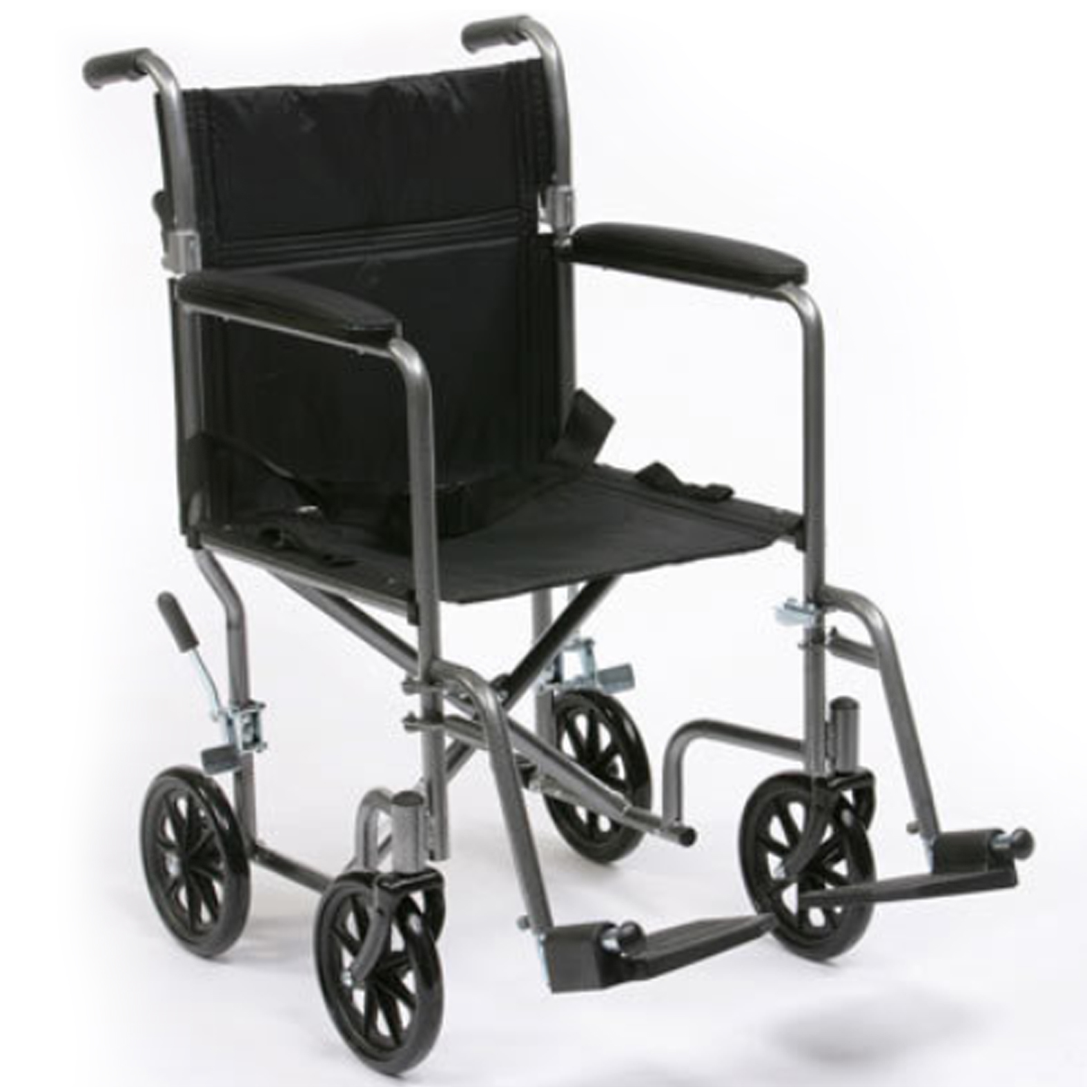 Luxury steel folding travel transit wheelchair with half Luxury wheelchairs