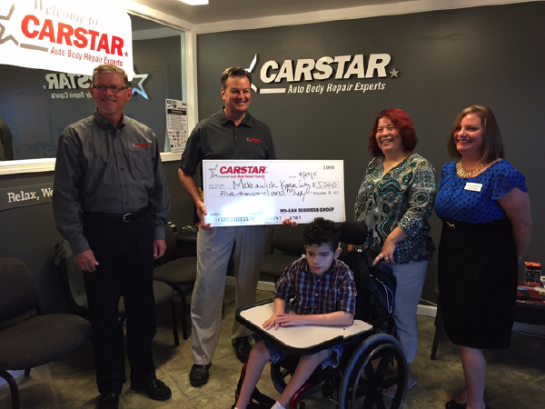 CARSTAR MO-KAN BUSINESS GROUP SENDS CHILD WITH RARE DISEASE TO DISNEY WORLD THROUGH MAKE-A-WISH® FOUNDATION OF KANSAS CITY