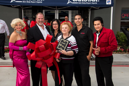 ELVIS PRESLEY AND MARILYN MONROE JOIN THE GRAND OPENING FESTIVITIES AT CARSTAR A1 AUTO'S COLLISION IN SPRING, TEXAS