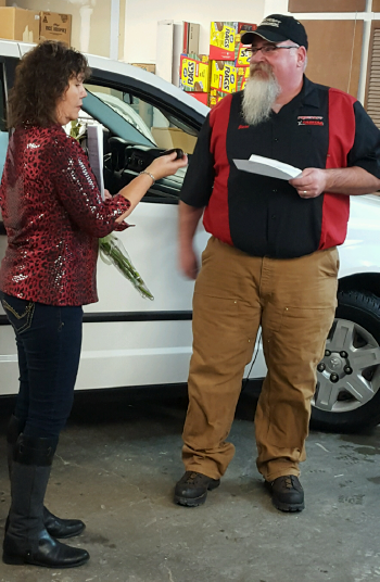 CARSTAR PROCRAFT PRESENTS DODGE CARAVAN TO DESERVING GREAT FALLS, MT RESIDENT THROUGH NABC RECYCLED RIDES® PROGRAM