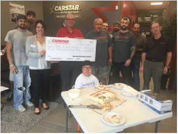 CARSTAR Olathe Presents Check to Make-A-Wish Foundation Missouri Recipient