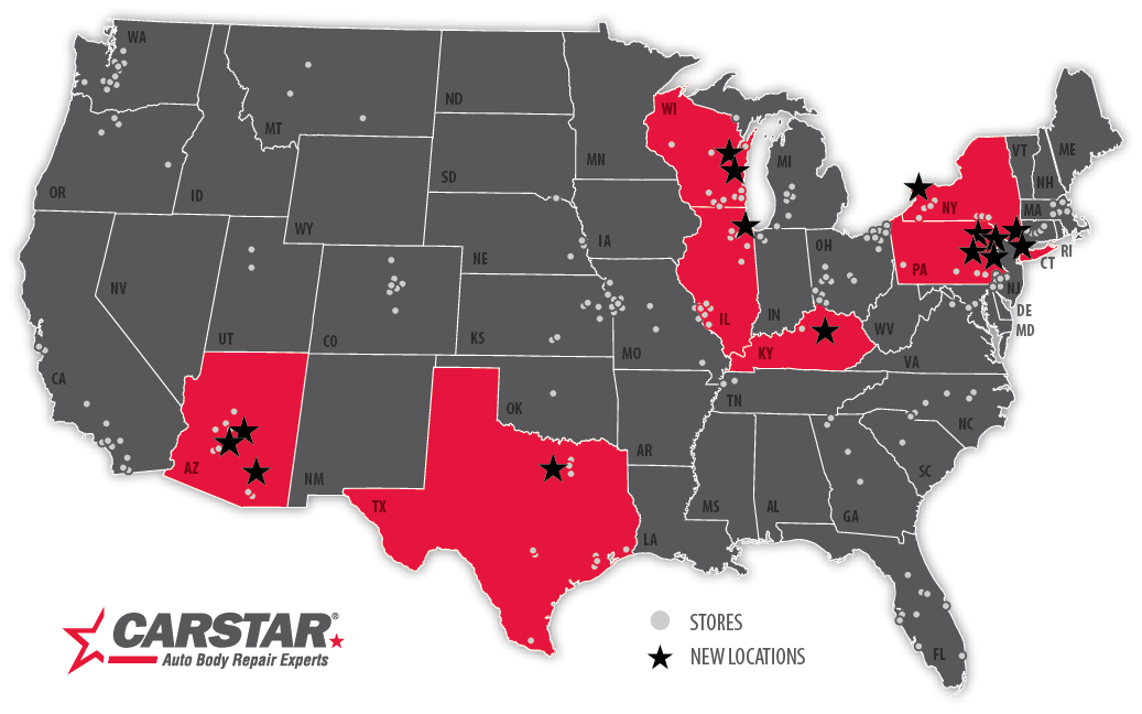 CARSTAR map