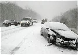Car Accident in the Snow