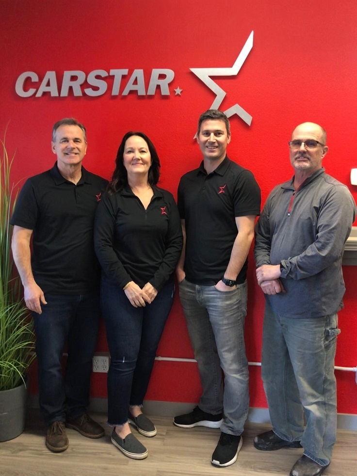 CARSTAR Port Orchard L to R Pat Wendy Kyle and Tom Murray