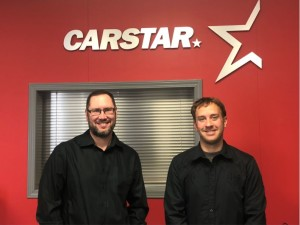Clinton Chomlak, CARSTAR St. Paul Manager (left), Bernard Michaud, CARSTAR St. Paul Owner (right)