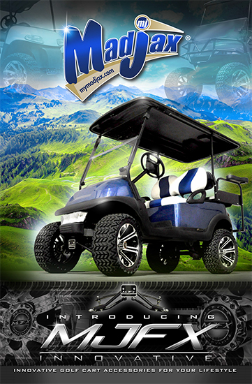CartKings Madjax Golf Cart Poster on