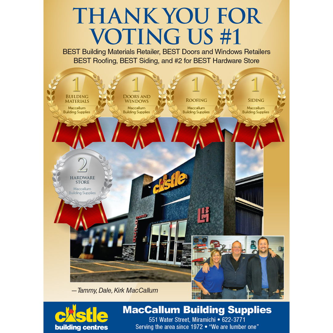 Congratulations to Castle Member MacCallum Building Supplies!