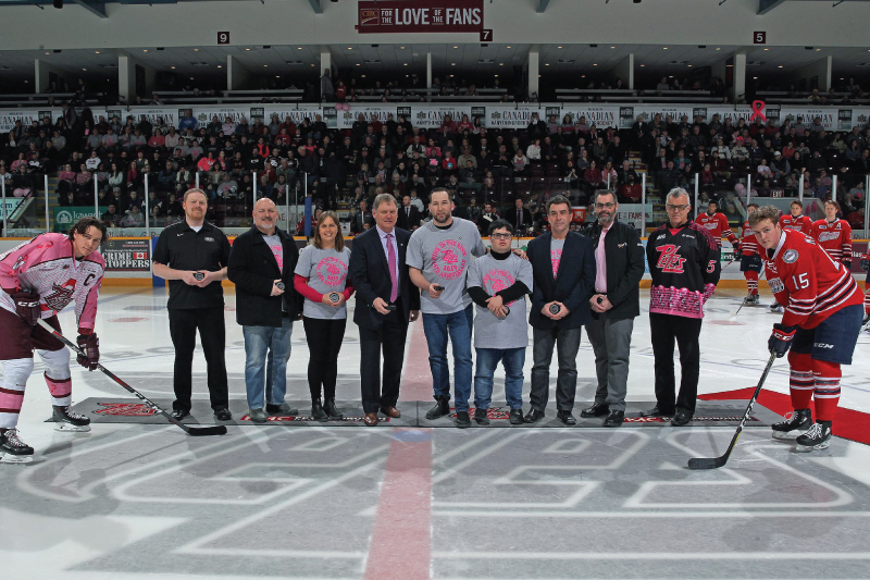Alf Curtis Sponsors Pink in the Rink