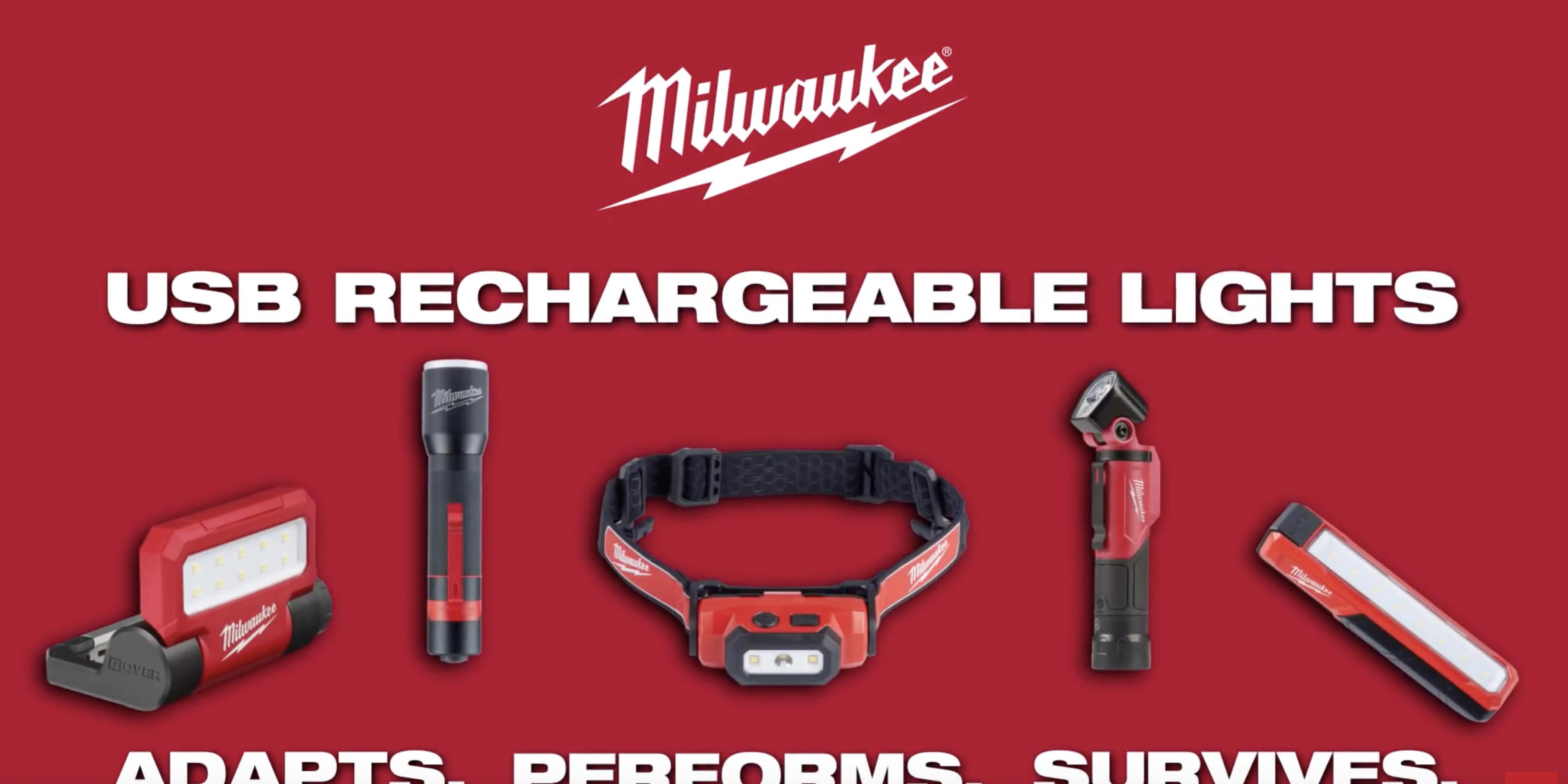 Milwaukee® USB Rechargeable Personal Lights