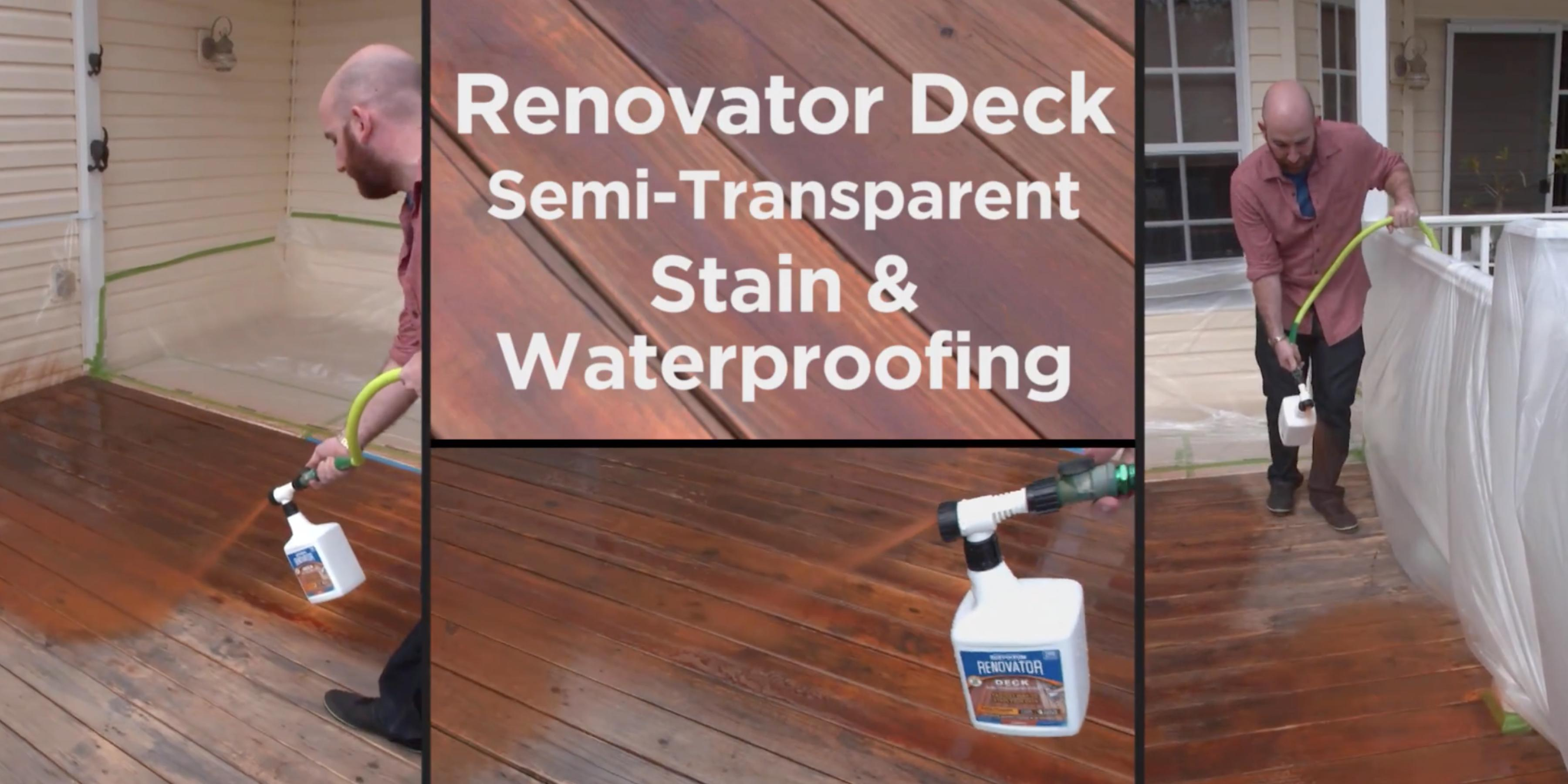 Deck Refinishing With Renovator Deck