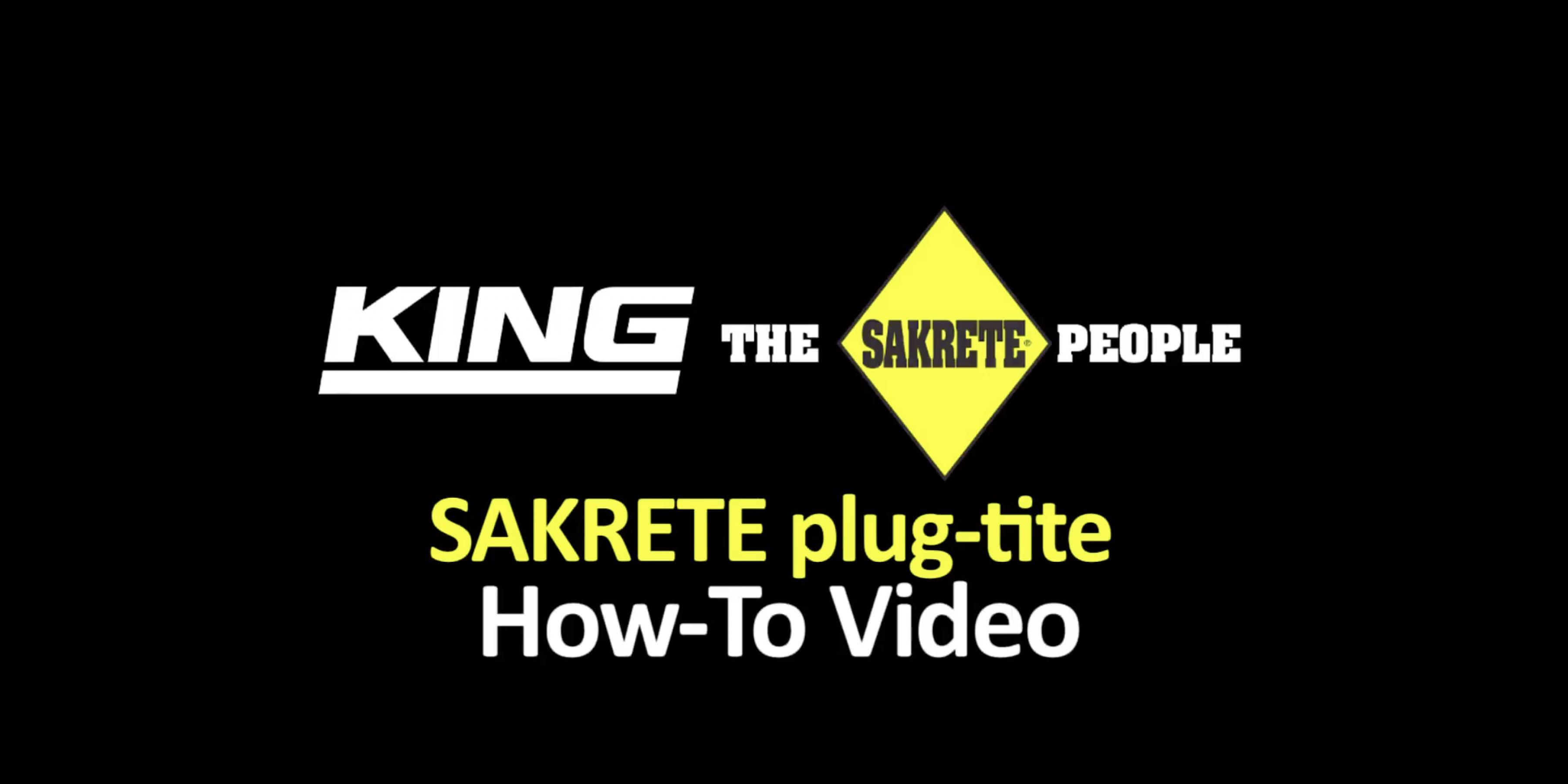 SAKRETE plug-tite How-To Video