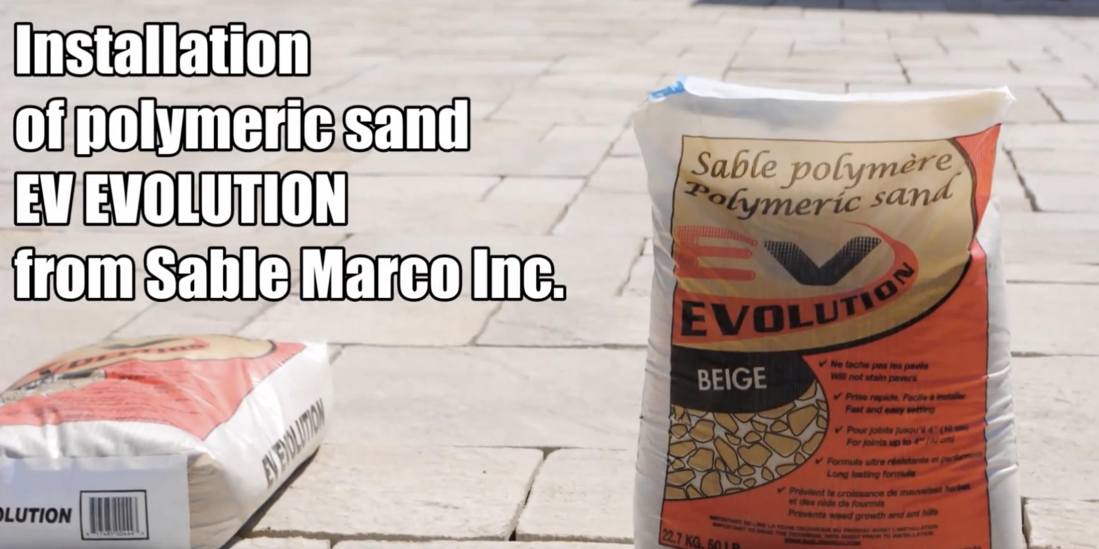Installation of Polymeric Sand Ev Evolution from Sable Marco Inc.