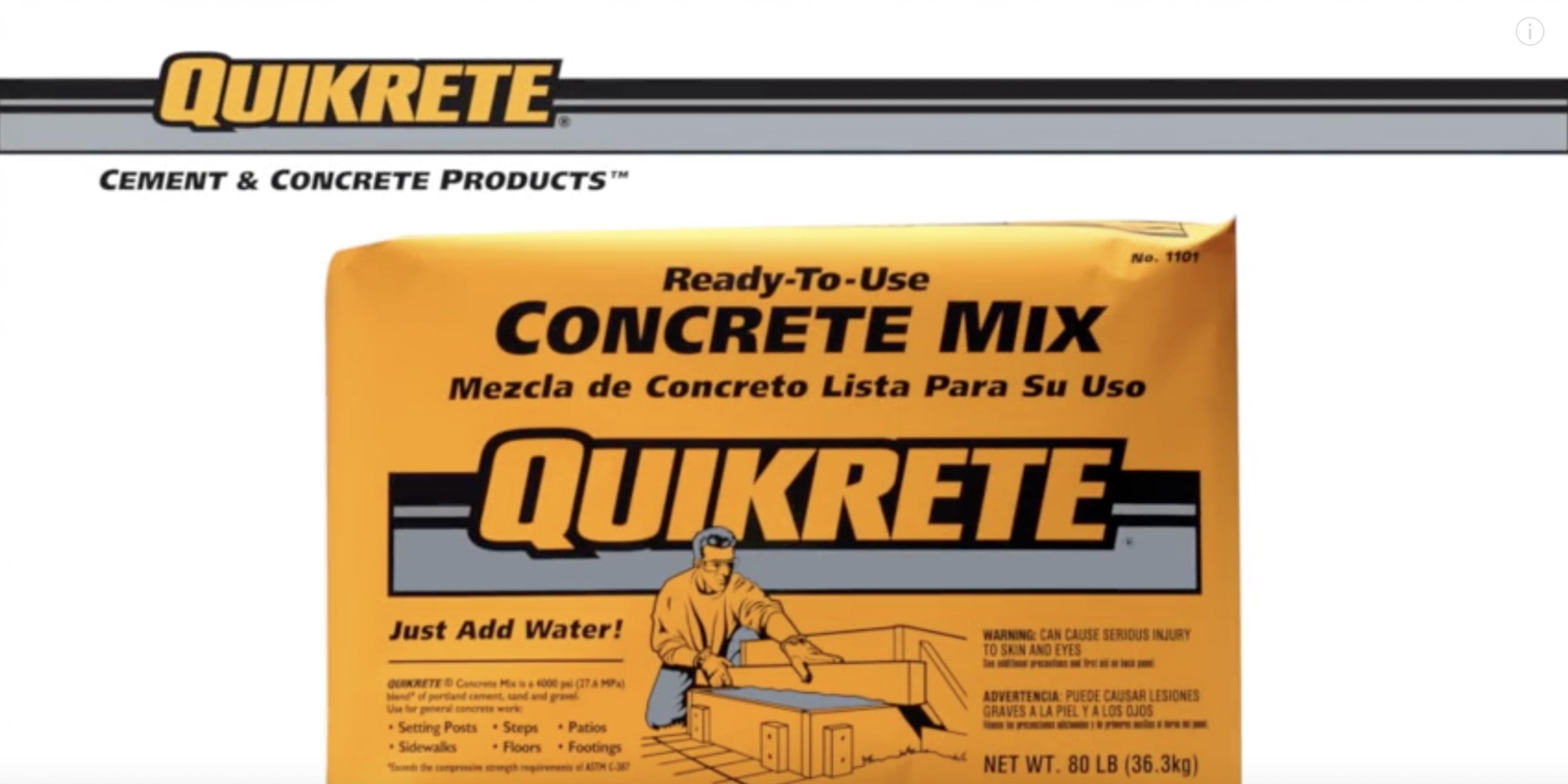 QUIKRETE Concrete Mix (Product Feature)