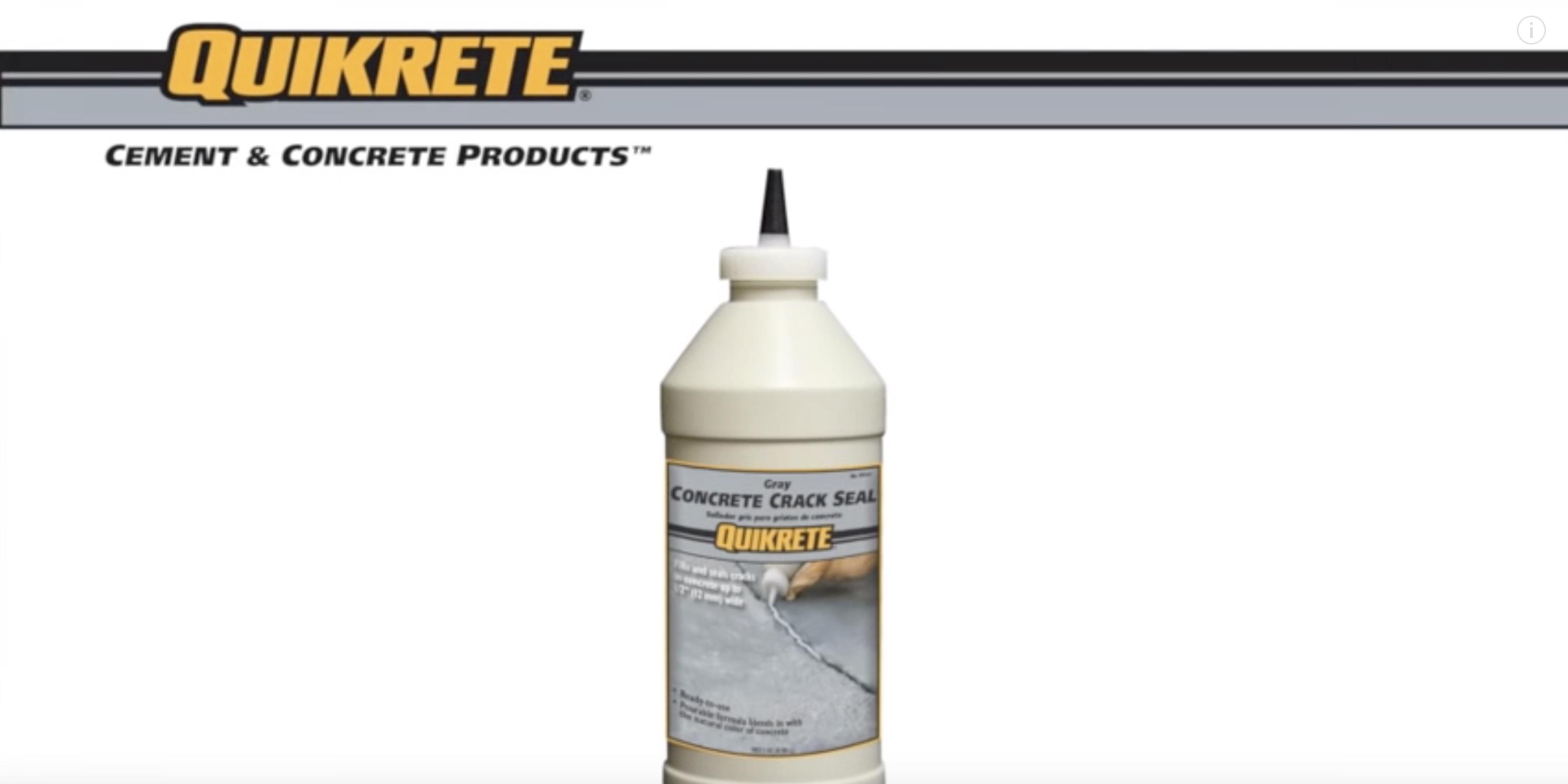 QUIKRETE Concrete Crack Seal (Product Feature)