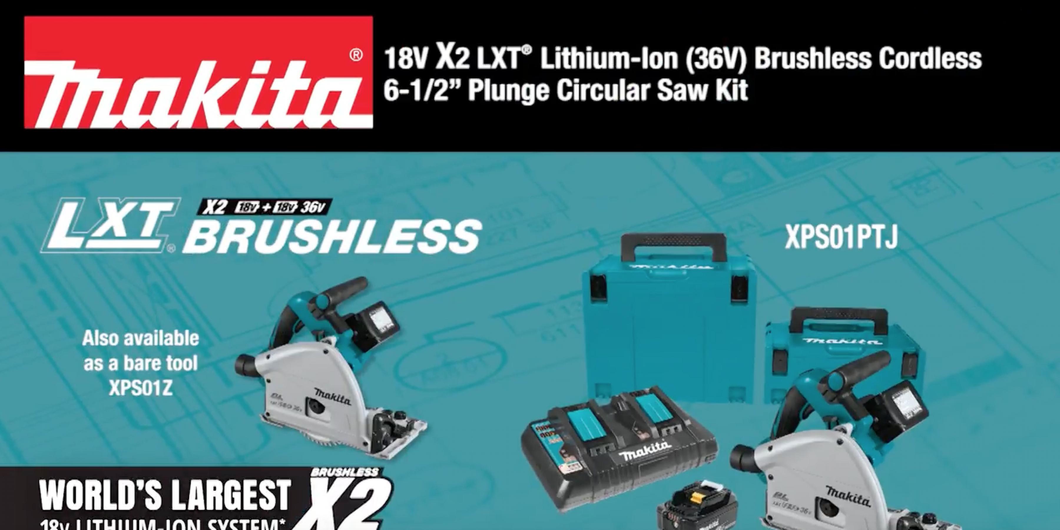 Makita 18V X2 LXT® (36V) Brushless 6-1/2
