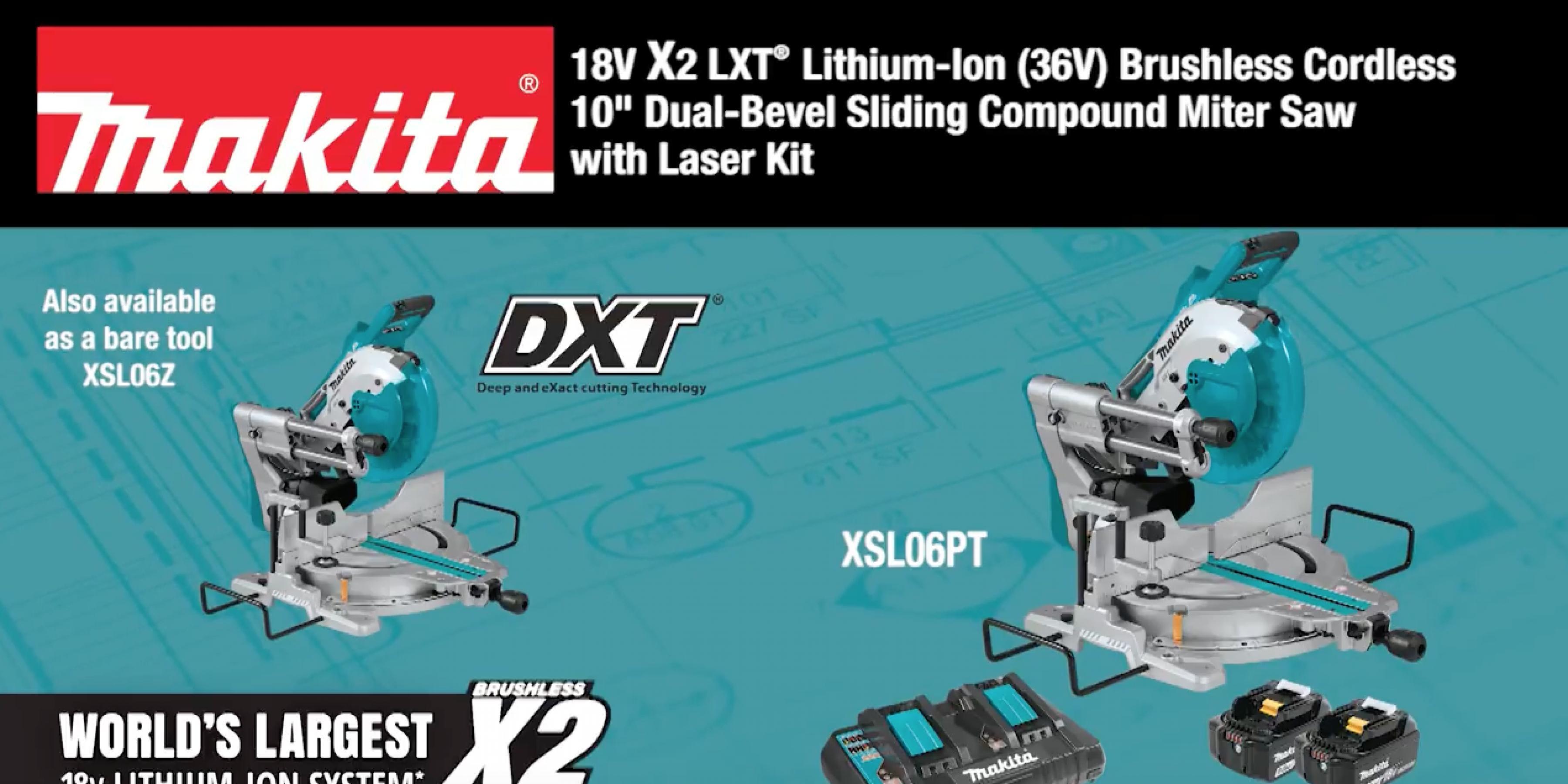 MAKITA 18V X2 LXT® (36V) Brushless 10