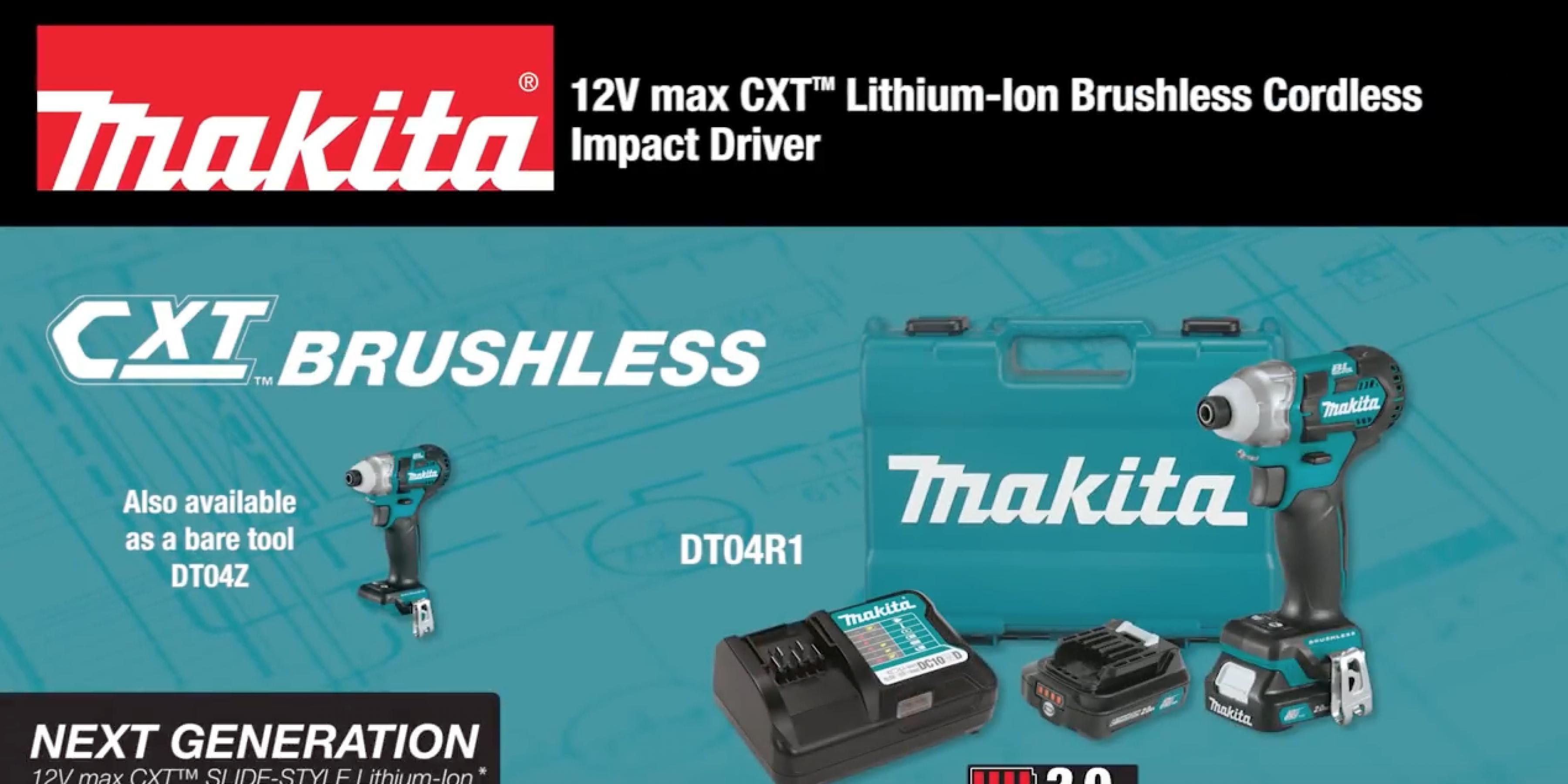 MAKITA 12V max CXT™ Brushless Impact Driver Kit (DT04R1, DT04Z)