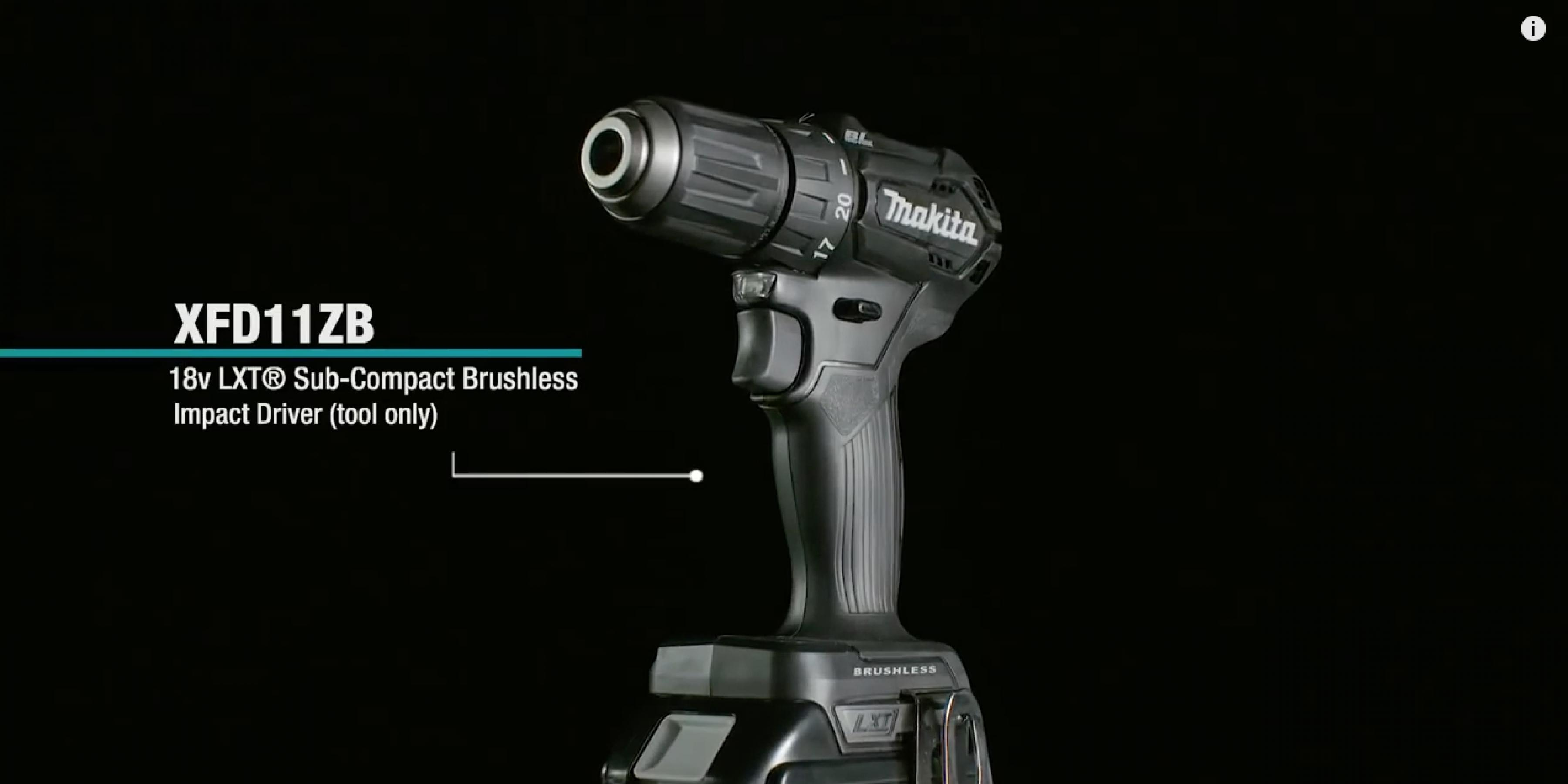 MAKITA 18V LXT® Sub-Compact Brushless 1/2