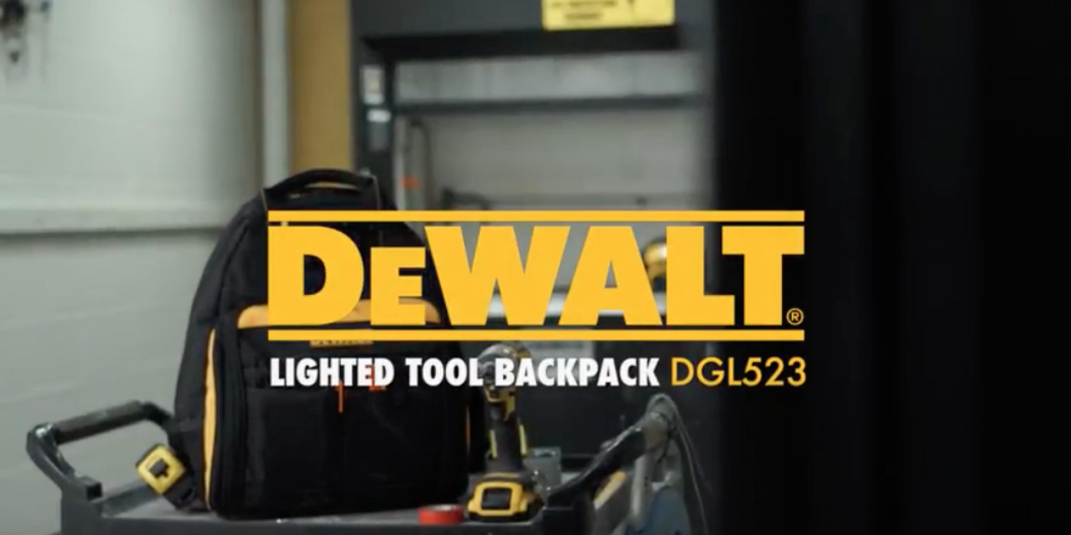 DEWALT DGL523 LightedTool Backpack