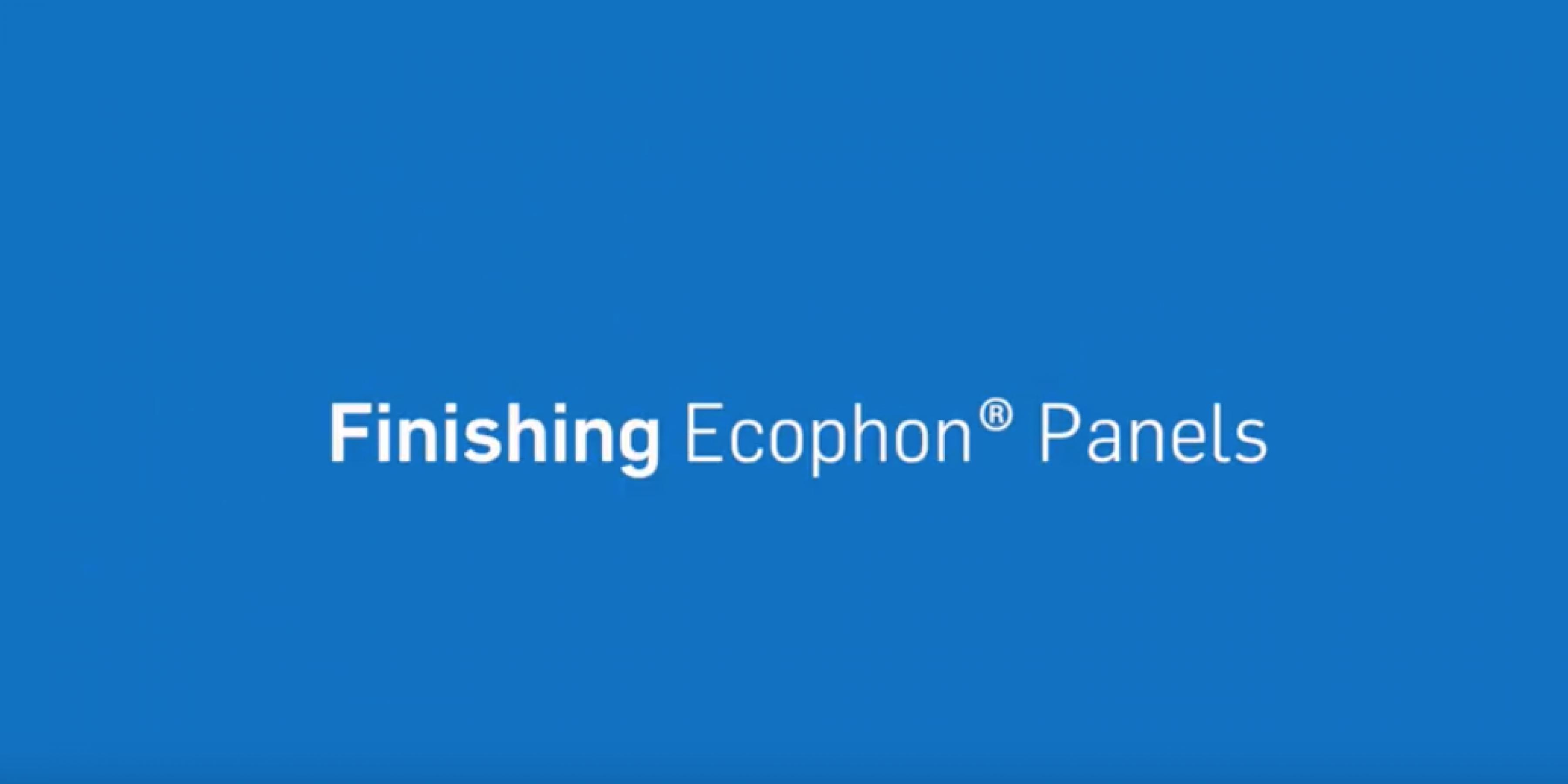 How-To Finish Ecophon® Ceiling Panels