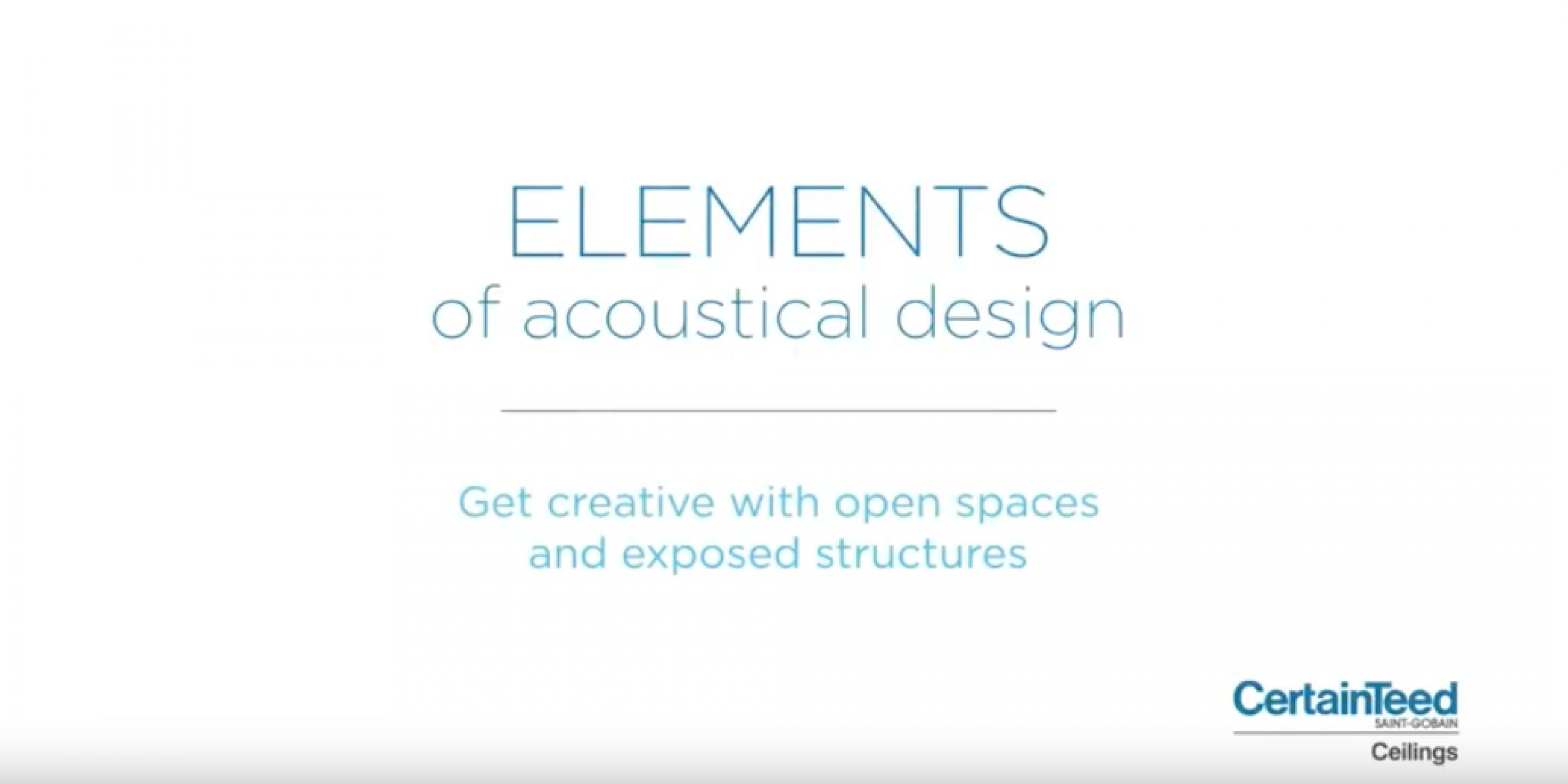Elements of Acoustical Ceiling Design