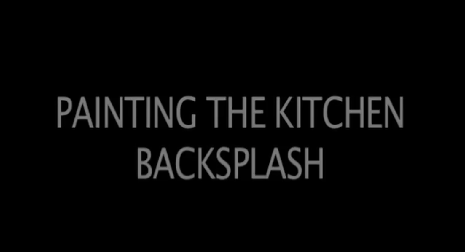 SICO PAINTS | Video tutorial: how to paint the kitchen backsplash