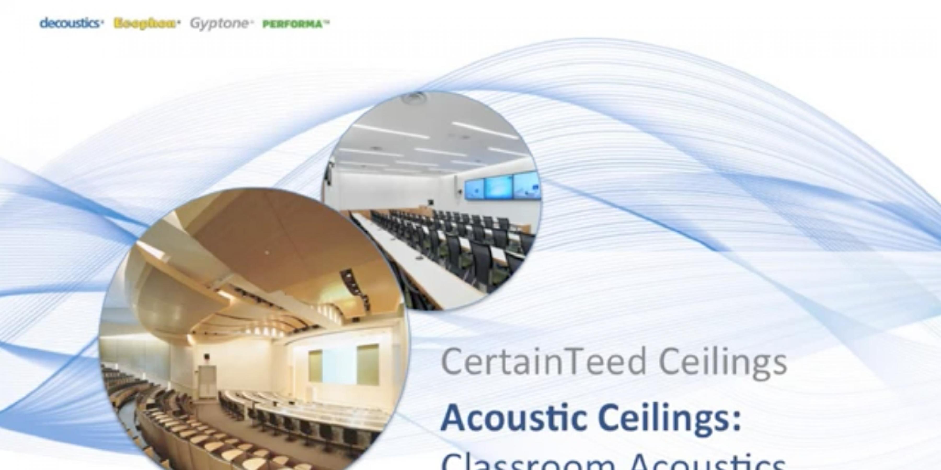 Classroom Acoustics Panel Discussion
