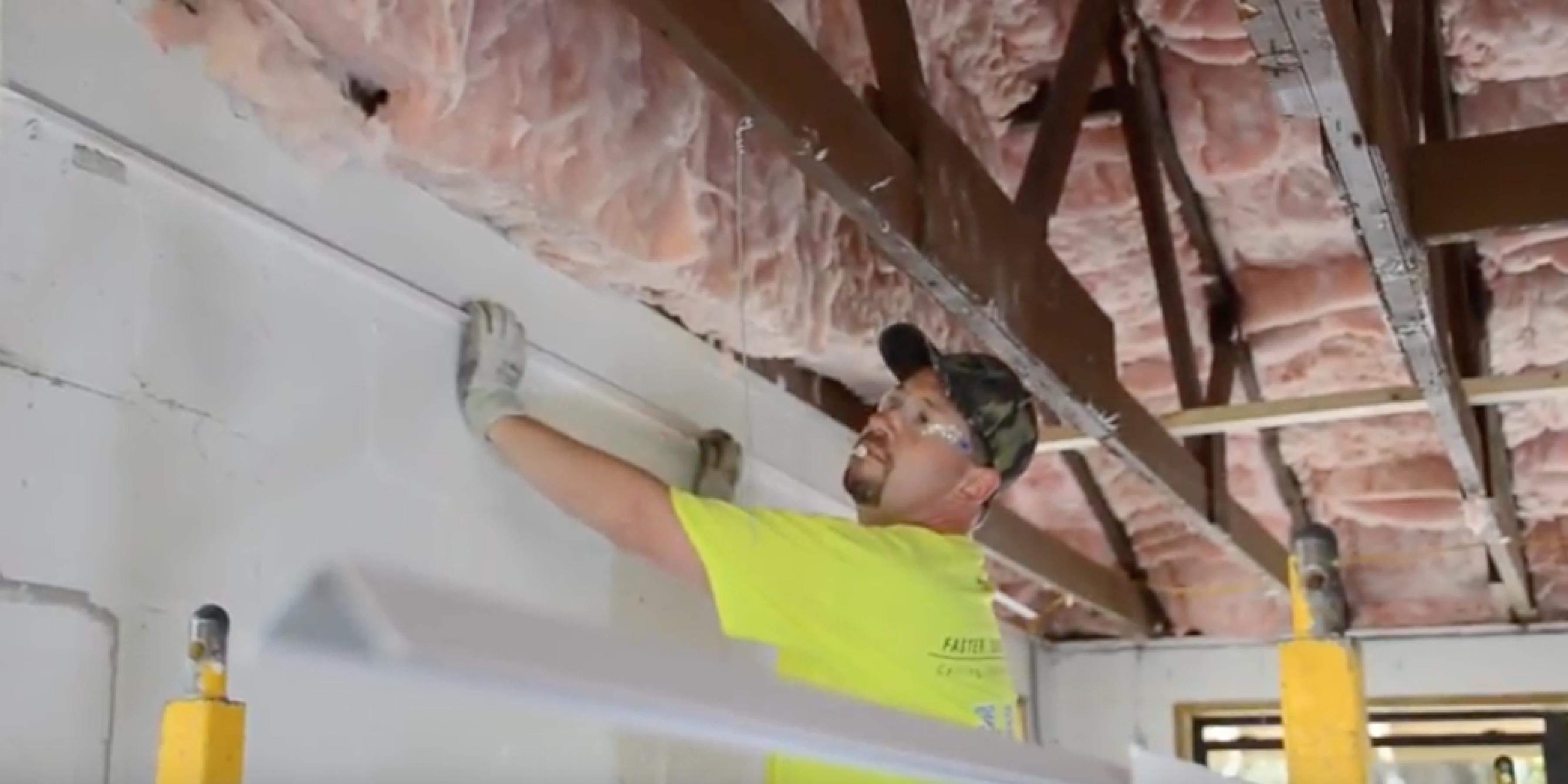 How to install acoustical wall angle