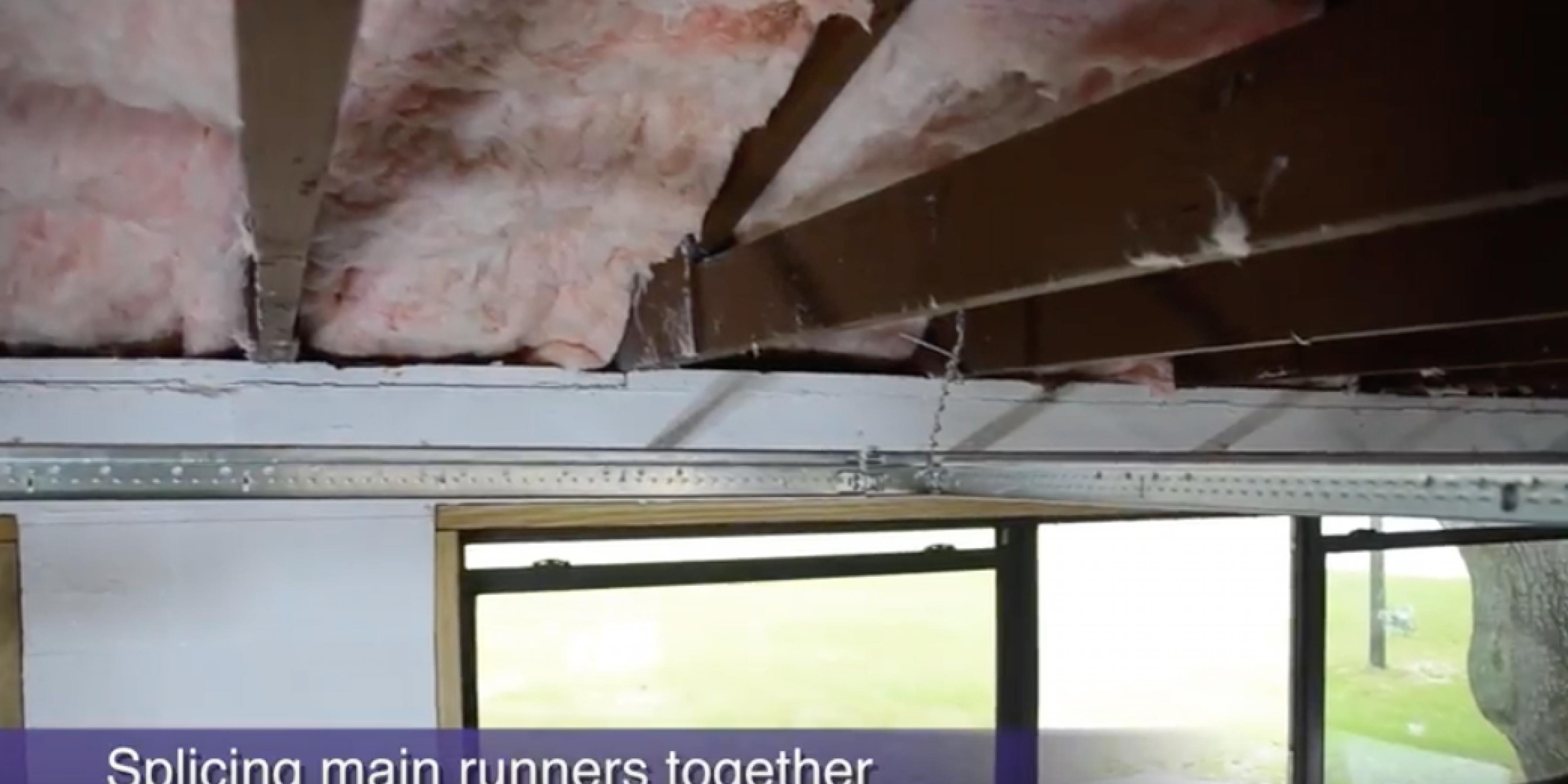 How to stab, remove and reinstall acoustical main runners